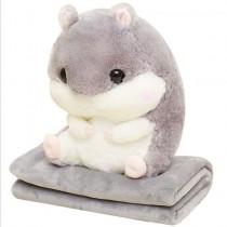倉鼠娃娃 抱枕/靠枕 暖手加毛毯 交換禮物